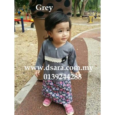 romper baju kurung - Grey