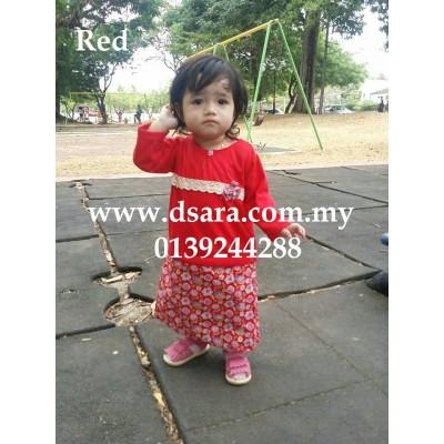 romper baju kurung - Red