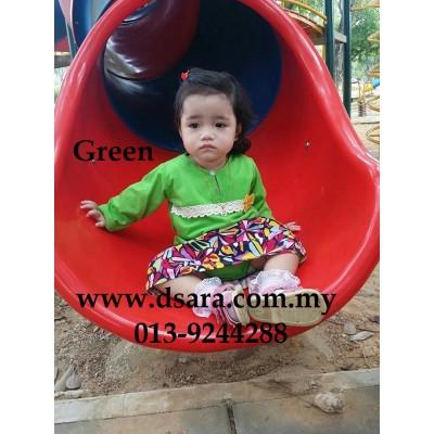 romper baju kurung - Green