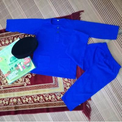 Baju Melayu Cotton Tshirt - JebatKidz ROYAL BLUE