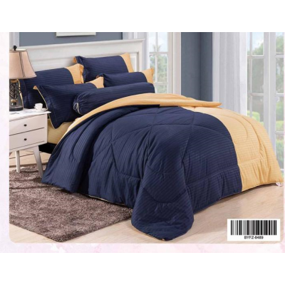 Cadar Hotel Set Comforter Dwi Colour 7 in 1 - 8489