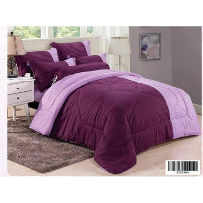 Cadar Hotel Set Comforter Dwi Colour 7 in 1 - 8491