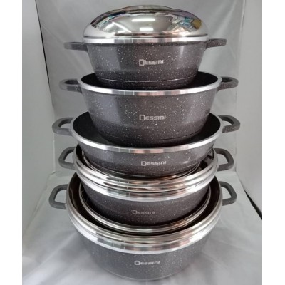 COOKWARE SET 10pcs DESSINI CASSEROLE - 112
